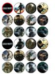 24 x Call of Duty Black Ops Edible Wafer Paper Cake Top Toppers
